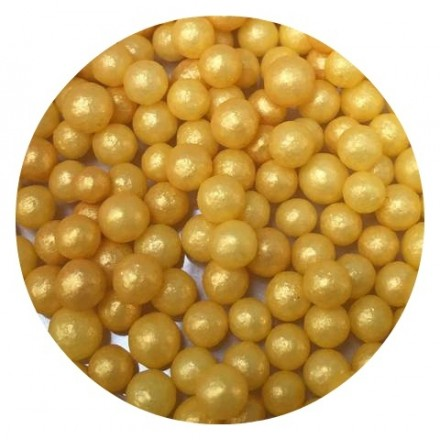 Gold Glimmer Pearls 4mm 100g