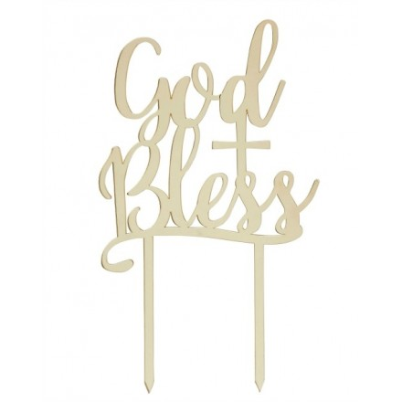 Gold Mirror 'God Bless'