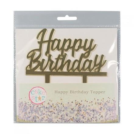 Gold Mirror Happy Birthday