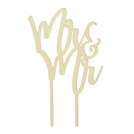 Gold Mirror 'Mr & Mrs'