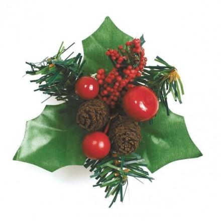 Berry and Fircone Christmas Spray