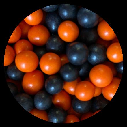 Large Chocoballs Orange & Black 100g