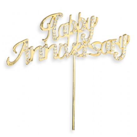 Happy Anniversary Gold w/ Diamante
