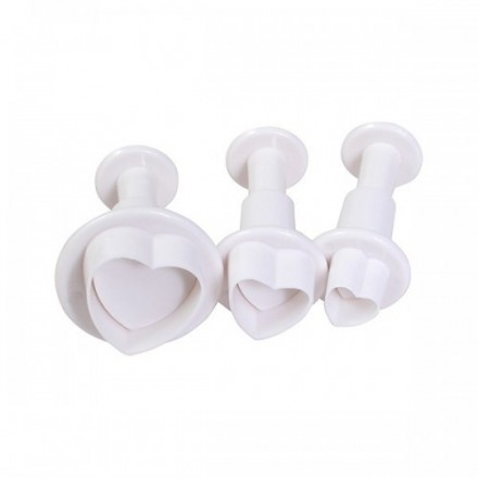 Heart Plunger Cutters - Set of 3