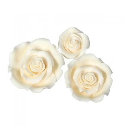 Ivory Sugar Soft Roses - Mixed Box of 12