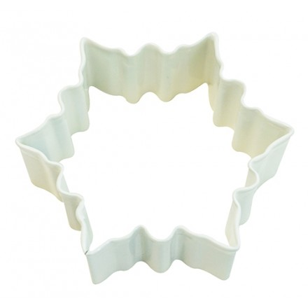 Snowflake Cookie Cutter Small White