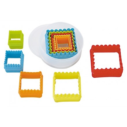 Square Plastic  Cookie Cutter Set (Set of 5)