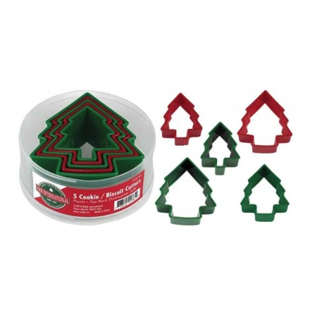 Christmas Tree Cutters Set of 5