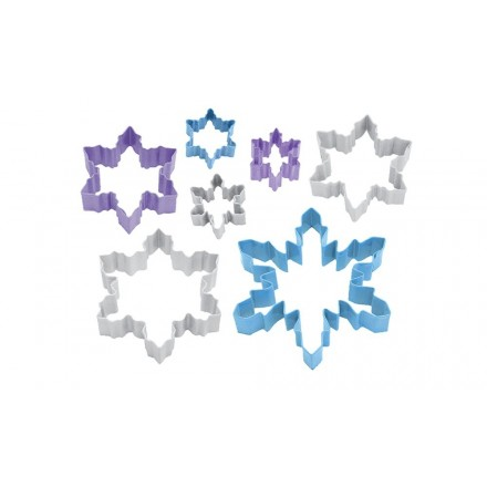 Snowflake Cookie Cutters Set of 7