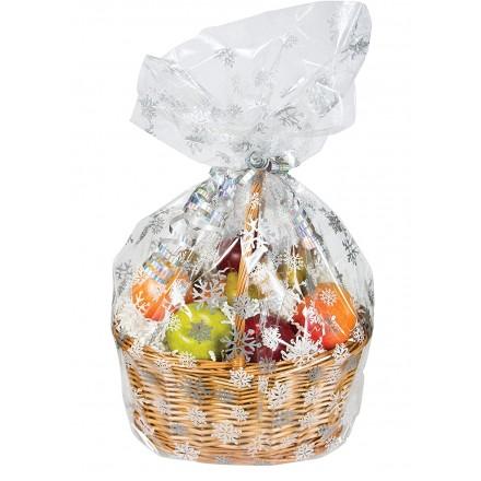 Large Snowflake Basket Bag