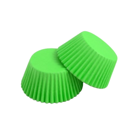 Lime Green Cupcake Cases ROLL OF 180