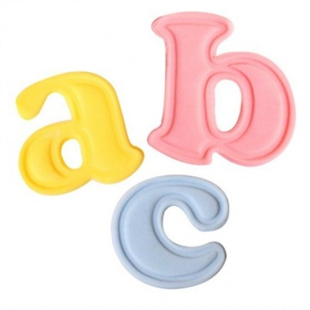 Lower Case Alphabet Plunger Cutters