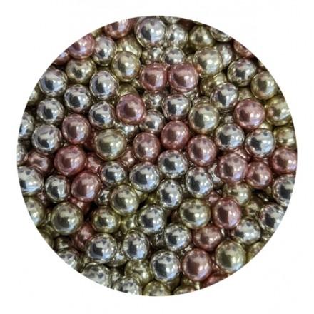 Mini Chocoballs Metallic Mix 100g