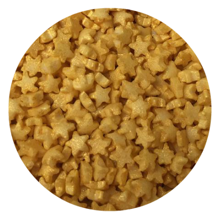 Gold Glimmer Mini Star Sprinkles 100g