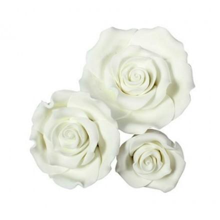 White Sugar Soft Roses - Mixed Box of 12