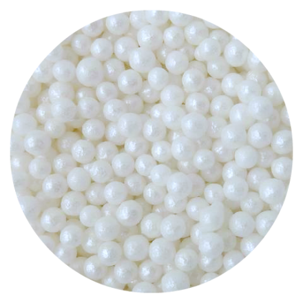 Mother of Pearl Glimmer Pearls 4mm 100g