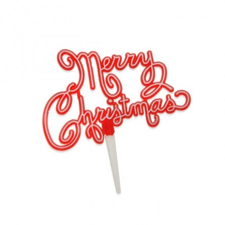 Merry Christmas Cake Topper - Pack of 5