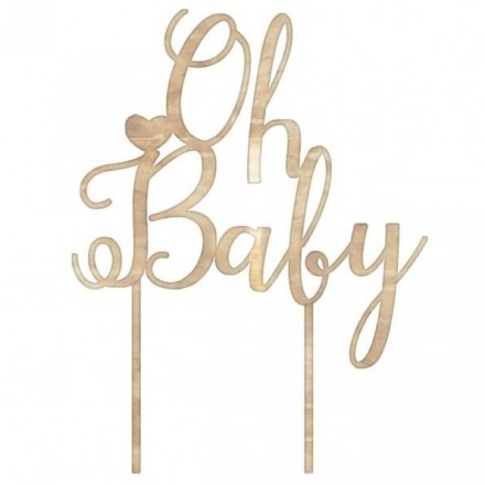 Oh Baby Wooden Cake Topper