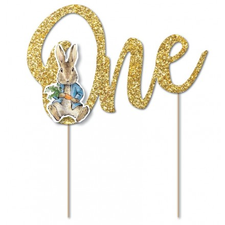 Peter Rabbit 'One' Cake Topper