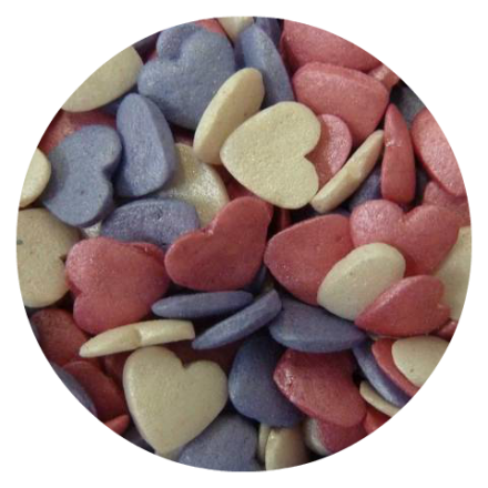 Glimmer Hearts Pink Mix 100g