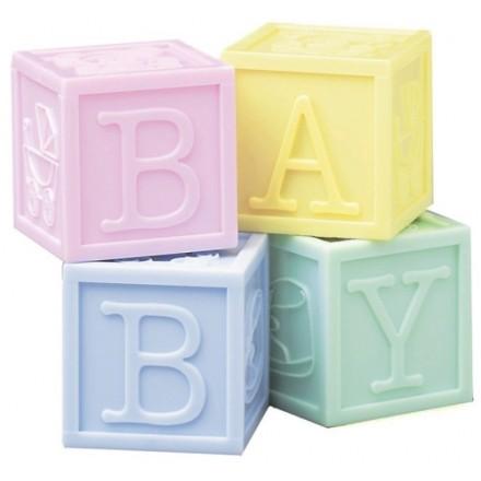 Set of 4 Plastic Baby Blocks