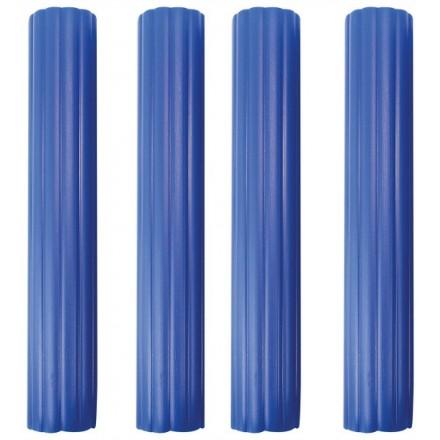 6 Inch Hollow Pillars, Blue