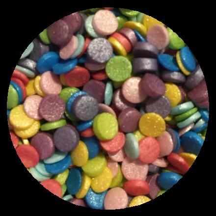 Rainbow Glimmer Confetti Sprinkles 100g