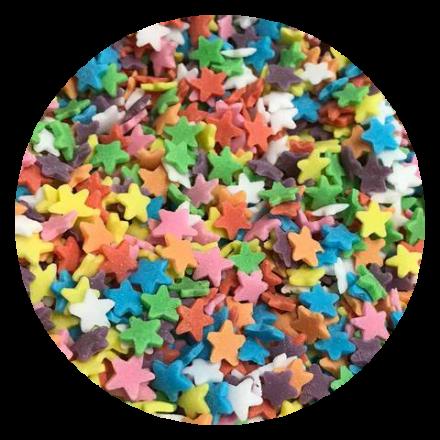Rainbow Stars Sprinkles 100g