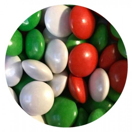 Mini Red, White & Green ChocoBeans 100g