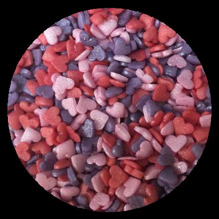 Mini Glimmer Hearts Romance Sprinkles 100g