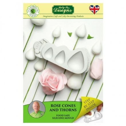 Rose Cones & Thorns Silicone Mould
