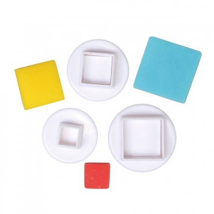 Square Plunger Cutters (set of 3)