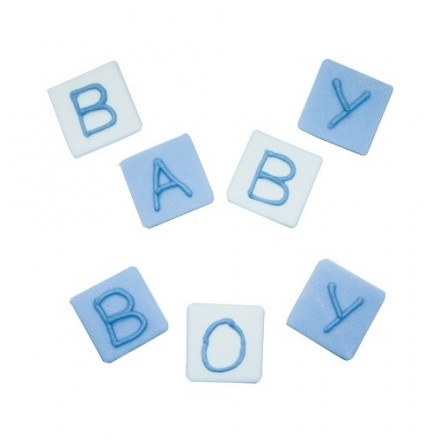 Baby Boy Edible Block Toppers