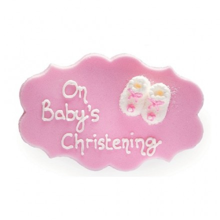 Christening Plaque (Pink or Blue)