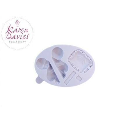 Sleeping Baby Mould - Karen Davies
