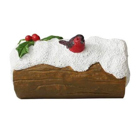 Robin on Log Cake Topper