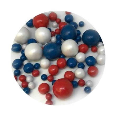 Red, White & Blue Bubbles 100g