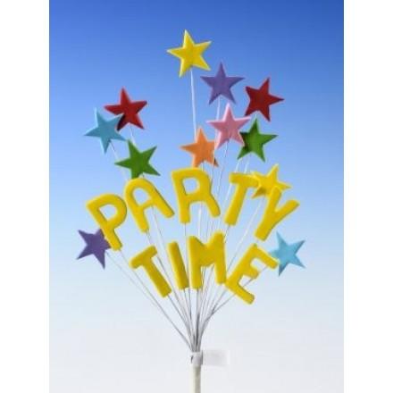Happy Birthday Star Spray Topper Party Time