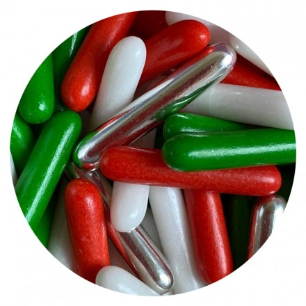 Christmas Mix Rod Sprinkles 100g