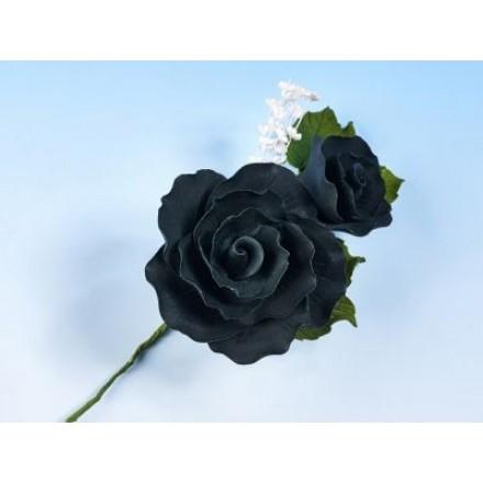 Vintage Rose Spray Black