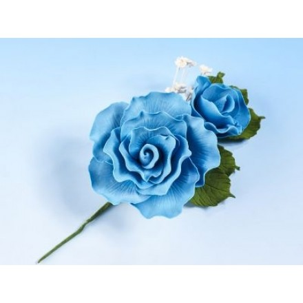 Vintage Rose Spray Blue Mist