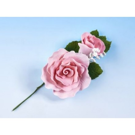 Vintage Rose Spray Pink