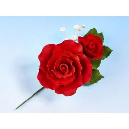 Vintage Rose Spray Red