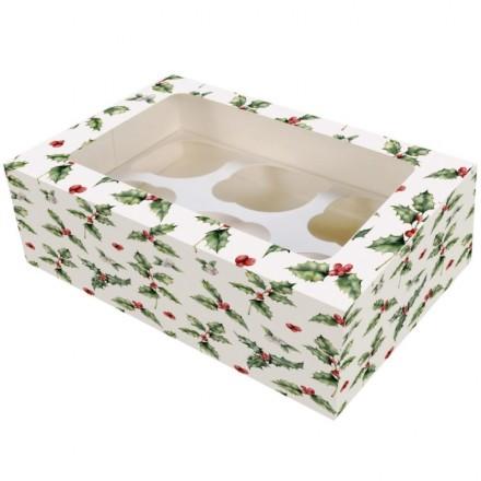 Holly Cupcake Box