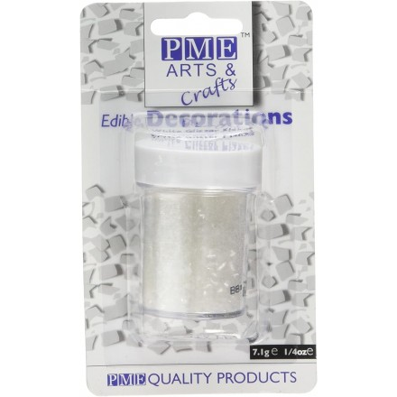 White Glitter Flakes PME 7g