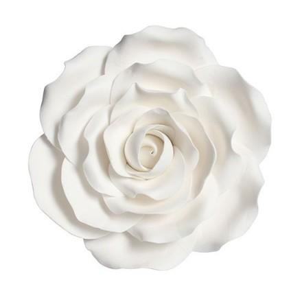 White Sugar Rose - 10cm