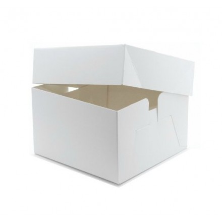 White Wedding Cake Boxes Standard Depth