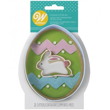 Egg and Mini Bunny Cookie Cutter