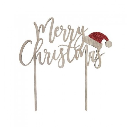 Wooden Merry Christmas Topper