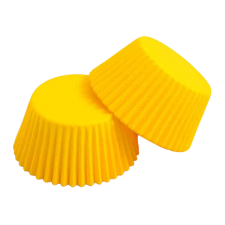 Yellow Cupcake Cases ROLL OF 180